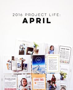 2016 Project Life // April