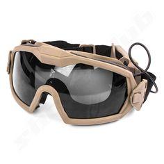 aktive taktische Vollsichtschutzbrille mit Ventilator DE  #shootclub #airsoft #softair