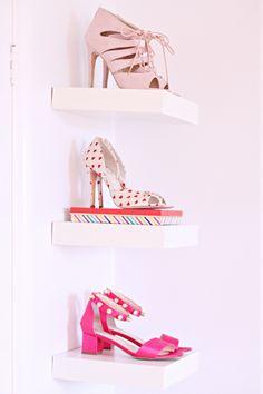 Decor Crush: Shoes on Shelves
