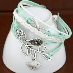 Adorable BLUE infinity Owl bracelet Adorable BLUE (not teal) infinity Owl Bracelet Jewelry Bracelets