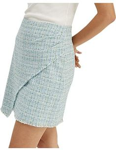 Women - Elisa Mini Skirt Plaid Skirts, Mini Skirts, Tweed Fabric, Tartan Plaid, Line Design, Model, Cotton, How To Wear, Fashion