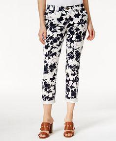 Tommy Hilfiger Hampton Floral-Print Ankle Pants
