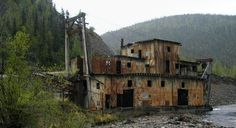 The abandoned Jack Wade gold dredge in Alaska. This one is near Tok on the road to Chicken.