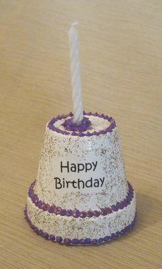 Clay Pot Birthday Cake