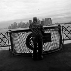 Auf der Staten Island Ferry nach Manhattan,New York City