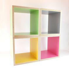Bunte Regale, Möbel / colorful shelfs, furniture made by b Squary via DaWanda.com