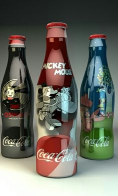 Created a series of custom Disney themed Coke Cola bottles. Which where to be sold on property at DisneyWorld via an interactive vending machine. Disney Food, Disney Art, Disney Magic, Walt Disney, Vintage Coca Cola, Mickey Mouse, Coca Cola Bottles, Coke Cans, Always Coca Cola