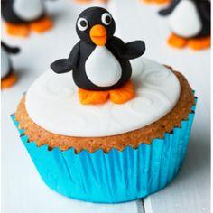 Penguin cupcakes fondant