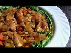 Pechugas de pollo en escabeche de naranja - YouTube