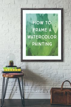 How to Frame a Watercolor Painting http://www.lydiamakepeace.com/blog/how-to-frame-a-watercolor-painting