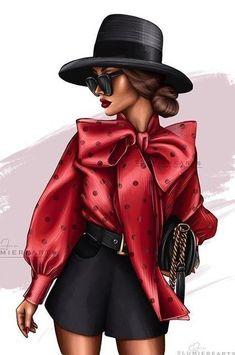 Fashion Illustration Face, Fashion Illustrations, Fashion Sketches, Drawing Fashion, Fashion Face, Marketing Digital, Fashion Dresses, Girly, Lady