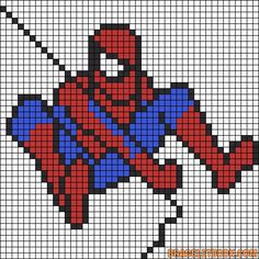 Spiderman perler bead pattern
