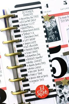 Happy Planner™ December memories in The Happy Planner™ of mambi Design Team member April Orr Planner Layout, Planner Pages, Life Planner, Printable Planner, Planner Stickers, Planner Ideas, Printables, December Daily, Create 365 Happy Planner