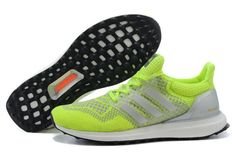 adidas Ultra Boost 2016-2017 Volt Lime Green Pure Platinum Black UK  Trainers 2017/