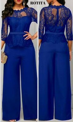 With new styles added each morning,you will discover fabulou finds for you,your family,&your home. Jumpsuit Dressy, Jumpsuit Outfit, African Fashion Dresses, Fashion Outfits, Womens Fashion, Floral Skater Dress, Mode Chic, Trendy Clothes For Women, Saree Blouse Designs