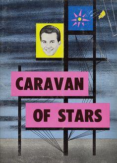 "1964 Dick Clark ""Caravan of Stars"" program cover — tour headlined by The Drifters, The Velvelettes, Johnny Tillotson, Dee Dee Sharp, Bobby Freeman, Brian Hyland, Sonny Knight, Mike Clifford, Lou Christie, The Hondells, & more."