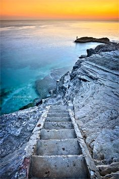 Pula, Crotia stairway down to the ocean, croatia is one the most beautiful places you can vivsit in Europe, it's the pearl of the mediterriean sea.