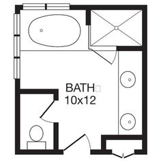 gives me an idea on basic space ... Just change the jacuzzi to a shower/tub with solid doors & that'd do it.
