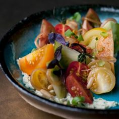 Tomatoes with wasabi mascarpone and pine nuts I Ottolenghi recipes