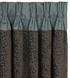 Sew Curtains Astoria Sea Curtain Panel from Eastern Accents - Bedroom Curtains With Blinds, No Sew Curtains, Shabby Chic Curtains, Ikea Curtains, Drop Cloth Curtains, Long Curtains, Green Curtains, Burlap Curtains, Roman Curtains