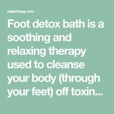 Foot detox bath is a soothing and relaxing therapy used to cleanse your body (through your feet) off toxins that may have accumulated over time. This Buzzle article looks into the concept of ionic foot detox, its benefits, and the speculation surrounding it. Dry Feet Remedies, Ionic Foot Detox, Bath Detox, Cleanse Your Body, Health Fitness, Therapy, Concept, Hair, Health And Fitness