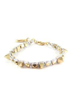 Ettika Pyramid Spike Bracelet : CHATOaccess #chatoaccess #ettika #jewelry #bracelet