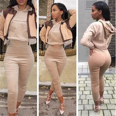 High Quality Spring Fashion Jumpsuit Romper Women 2 Pieces Hoodies Full Sleeve  Bodysuit Casual Playsuits Overall Long Pants 410d22184