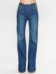 High-waisted wide leg jeans by Blank NYC (R749)