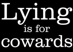 if you believe in what you are doing - why lie?