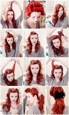 Pin up hair styles are the best!