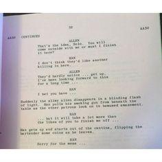 Acabou o mistério! Peter Mayhew divulgou no Twitter parte do roteiro original de Guerra nas Estrelas.
