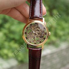 Just bought this on Etsy!  antique watch golden skeleton Steampunk Mechanical by demarrya, $14.99