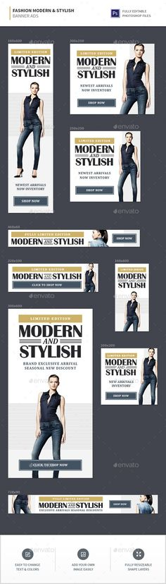 Fashion Stylish & Modern Banner Ads - Banners & Ads Web Elements Download here : https://graphicriver.net/item/fashion-stylish-modern-banner-ads/19580596?s_rank=82&ref=Al-fatih