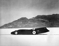 Sir Malcolm Campbell of Britain becomes the first person to break the 300-mph barrier in a car on Sept. 3, 1935. His 'Bluebird' reaches 301.337 mph on the Bonneville Salt Flats in Utah. (AP)