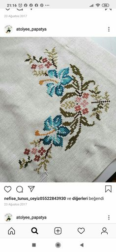 Embroidery Patterns, Cross Stitch Patterns, Crochet Lace Edging, Cross Stitch Flowers, Diy And Crafts, Handmade, Cross Stitch Embroidery, Towels, Farmhouse Rugs