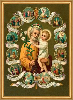 Patron of Our Apostolic Universal (Roman Catholic) Church. Joseph, Pray for ALL of GOD'S Children in the Whole World. Catholic Art, Catholic Saints, Roman Catholic, Religious Art, St Joseph Catholic, Religious Pictures, Jesus Pictures, Blessed Mother Mary, Blessed Virgin Mary