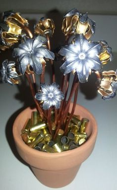 (Birthday, Valentine's, Anniversary) One Dozen Bullet Bloom Flower Pot | Bullet Bouquets