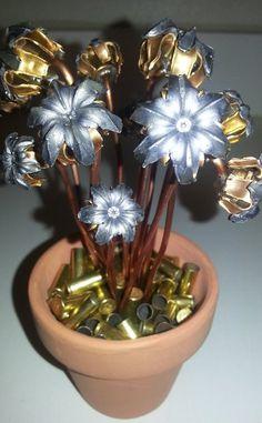 (Birthday, Valentine's, Anniversary) One Dozen Bullet Bloom Flower Pot | Bullet Bouquets