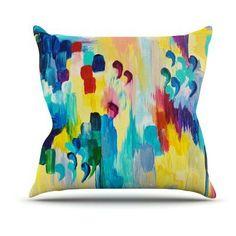 Kess InHouse Ebi Emporium Dont Quote Me Outdoor Throw Pillow - JD1009AOP04, Durable