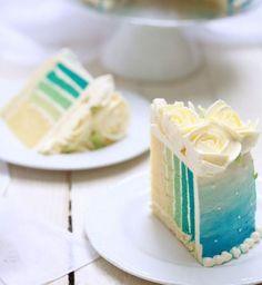 Ombre Cake bleu