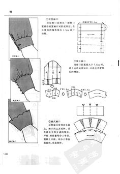 sleeves - pics only - in chinese :/ Sewing Hacks, Sewing Tutorials, Sewing Crafts, Techniques Couture, Sewing Techniques, Pattern Cutting, Pattern Making, Sewing Clothes, Diy Clothes