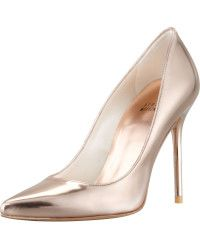 Rose gold amps up this glossy pump. Nouveau Specchio Pointy-Toe Pump 989ee0076c60b
