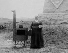 When relatives fled the Rogers family home for safety during the Battle of Gettysburg Josephine Miller Slyder stayed behind to bake bread for Union soldiers. In 1886 the 1st Massachusetts Regiment honored her at the dedication of their Gettysburg monument, paying for her transportation from her home in Ohio and presenting her with a gold corps badge.