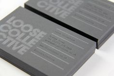 Loose Creative business cards feature GF Smith paper stock.
