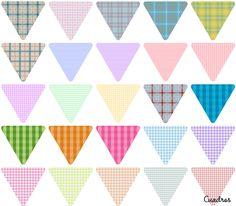 Freebies: 215 (x3) Modelos de Banderines para crear tus propias cadenas