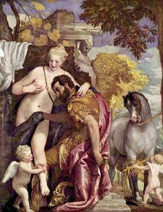 마르스와 비너스. by. 칼리아리 파올로 베로네세. 메트로폴리탄 미술관 소장(16C)