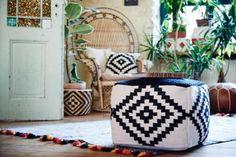 @ Eva Padberg shooting for Coachella, Rattan, Look Hippie Chic, Deco Boheme, Bohemian House, Decoration, Designer, Sweet Home, Throw Pillows