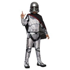 Star Wars: Captain Phasma Kids' Classic Costume Large (12-14), Kids Unisex, Size: L(12-14), Silver