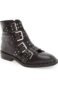 Topshop 'Amy' Studded Buckle Bootie (Women) available at #Nordstrom