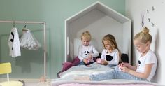 This versatile children's furniture collection by Dutch company Bedhuisje (Bedhouse) puts some serious design fun into nurseries and kids' bedrooms.